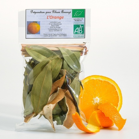 Sachet rhum arrangé orange