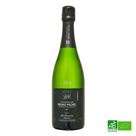 Champagne bio Blanc de blancs 1er cru Millésime 2008 Les Brousses