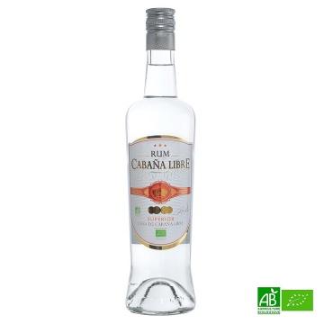 Rhum Blanc Bio CABANA LIBRE 70cl