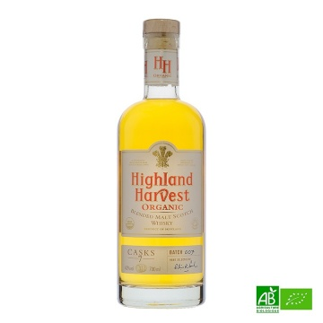 Whisky bio Highland Harvest Organic - Blended Malt 70cl 40%vol