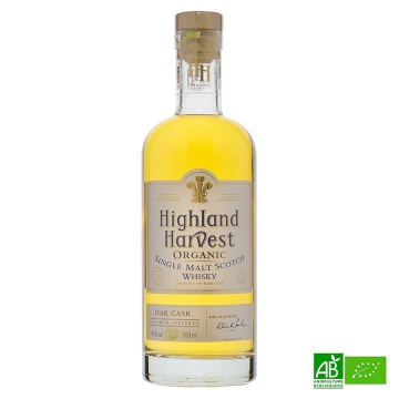 Whisky bio Highland Harvest Organic - Single Malt 70 cl 40%vol