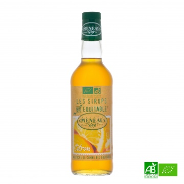 Sirop de canne CITRON bio équitable 50cl