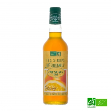 Sirop de canne ORANGE bio équitable 50cl