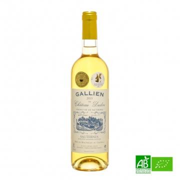 Vin blanc doux bio Sauternes AOC Château Gallien 2016 75cl