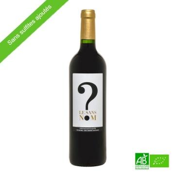 Vin rouge bio sans sulfites Bordeaux AOC 2018 Le Sans-Nom 75cl