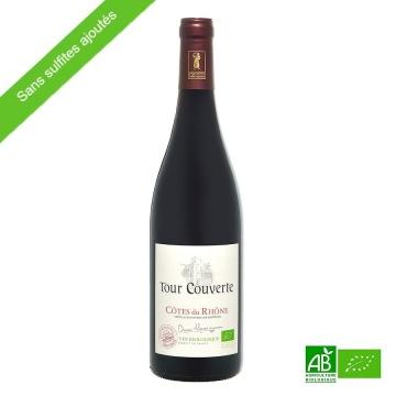 Vin rouge bio sans sulfites Côtes-Du-Rhône bio La Tour Couverte 75cl 2019