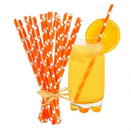 Pailles écologiques Papier Orange