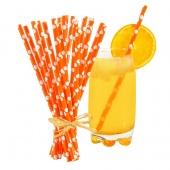 Pailles écologiques en papier Orange