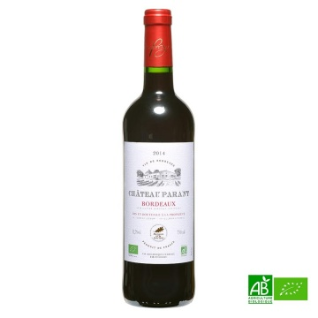 Bordeaux biologique AOC Château Parant 2014 Médaille d'or