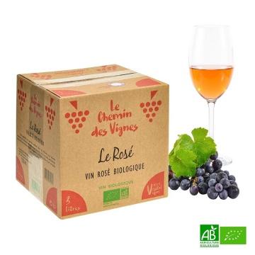 Rosé Bio Le fruit des vignes 3litres 11,5%vol