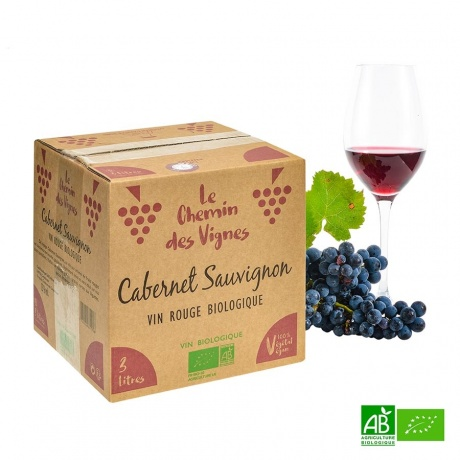 BIB Vin rouge Cabernet Sauvignon bio 3L