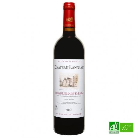 Vin rouge bio, chateau Langlais 2016