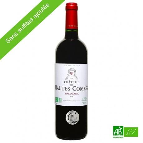Vin rouge bio, château des hautes Combes