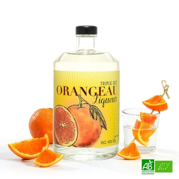 Triple sec bio liqueur à l'orange 70cl- 40%
