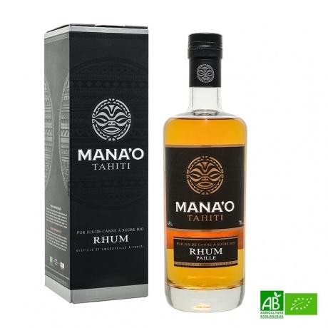 Mana'o Rhum ambré bio Tahiti Pure Canne 43%vol