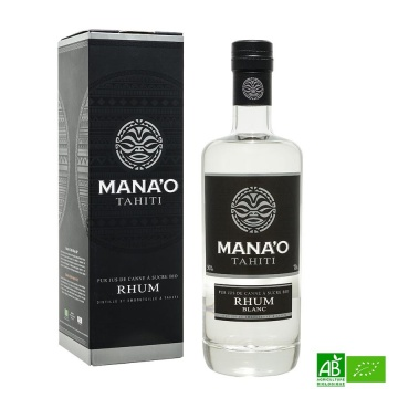 Mana'o Rhum blanc Pure canne 70cl - 50%Vol
