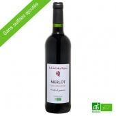 Merlot vin rouge biologique sans sulfite ajouté 75cl 14%vol