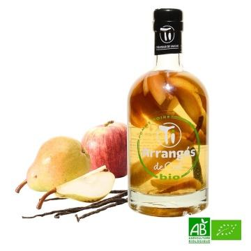 Rhum arrangé de Ced pomme poire vanille bio 70cl 21%vol