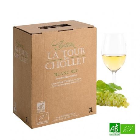 Bib vin blanc bio Château La Tour de Chollet 3L 14%Vol