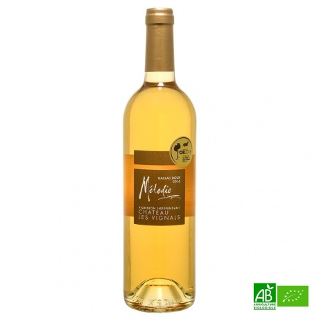 Vin blanc doux Gaillac AOC bio Mélodie 2019